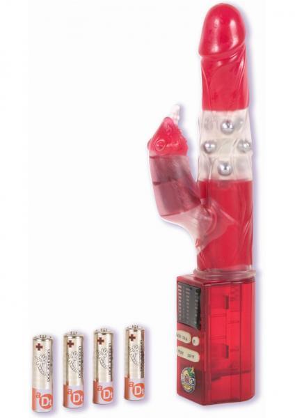 Jennas Beaver Vibrator Multifunction 10 Inch Red