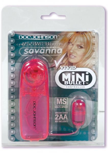 Vivid Savanna Mini Bullet And Controller Pink