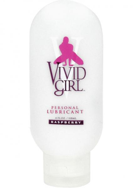Vivid Girl Silicone Based Lubricant Raspberry 4 Ounce