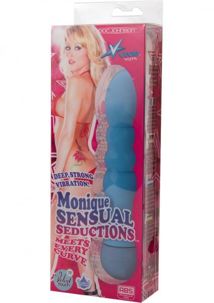 Vivid Toys Monique Sensual Seductions Vibrator Waterproof 7 Inch Blue