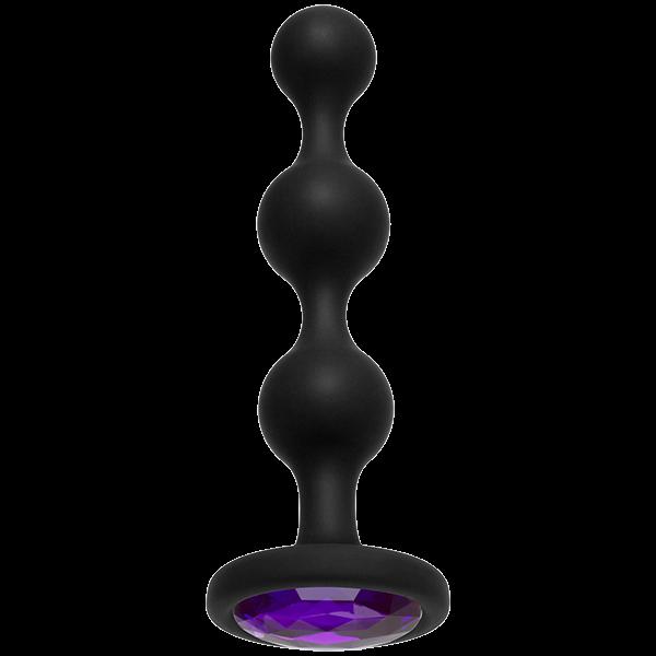 Booty Bling Jeweled Anal Beads Purple