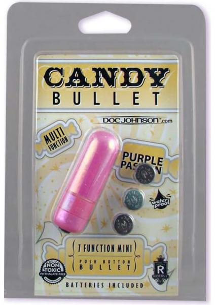 Candy Bullet Purple Passion 7 Function Mini Bullet Purple