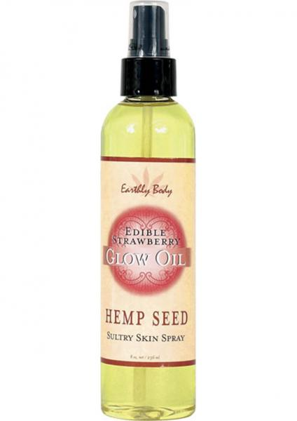 Edible Glow Oil With Hemp Seed Strawberry 8 Ounce Spray
