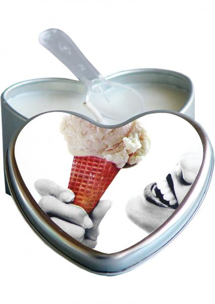 Edible Heart Candle - Vanilla