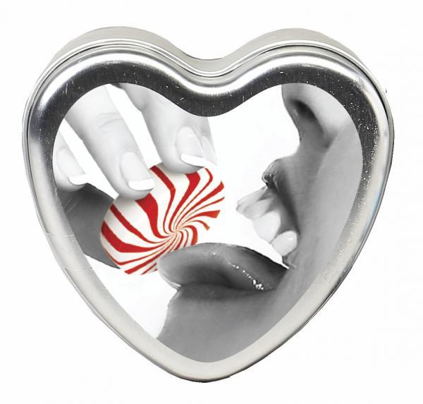 Edible Heart Candle Mint 4 oz