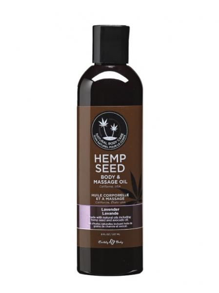 Massage And Body Oil With Hemp Seed Lavender 8 Ounce