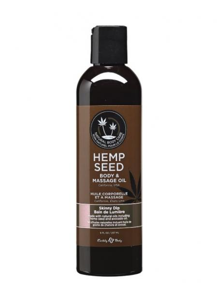 Massage And Body Oil With Hemp Seed Skinny Dip 8 Ounce