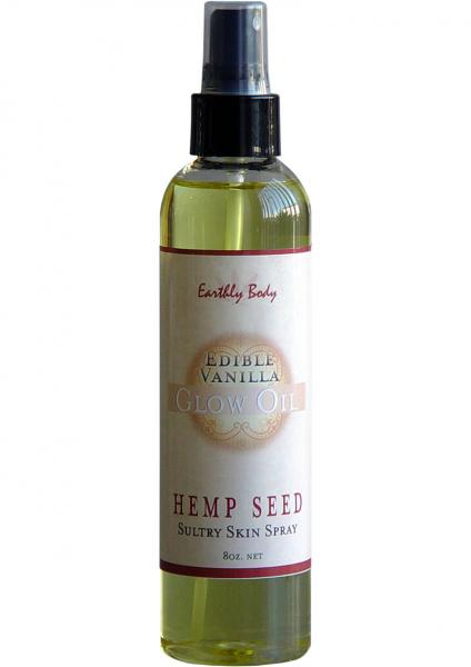 Edible Glow Oil With Hemp Seed Vanilla 8 Ounce Spray