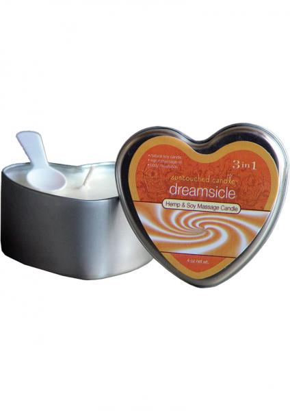 3 In 1 Suntouched Heart Massage Oil Candle Dreamsicle 4 Ounce