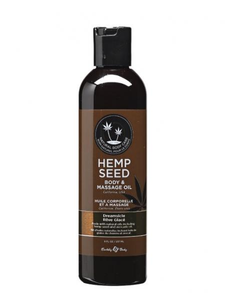 Massage And Body Oil With Hemp Seed Dreamsicle 8 Ounce