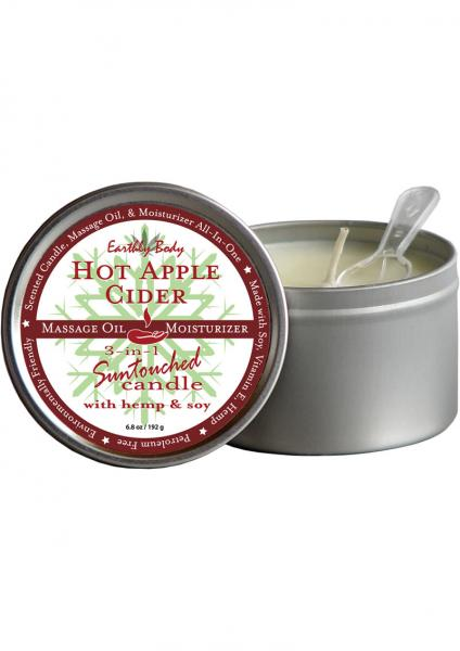 3 In 1 Suntouched Round Massage Oil Candle Hot Apple Cider 6.8 Ounce