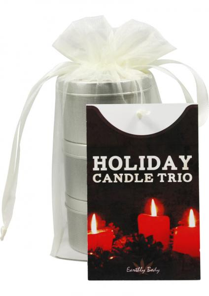 Holiday Candle Trio 3 In 1 Suntouched Round Massage Oil Candles 3 Per Bag