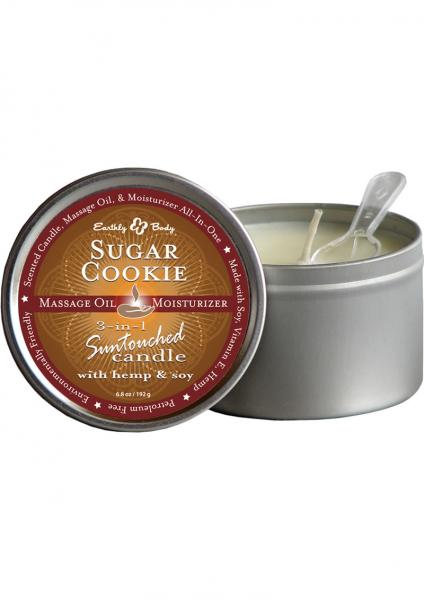 3 In 1 Suntouched Massage Oil Candle With Hemp & Soy Sugar Cookie 6.8 Ounce