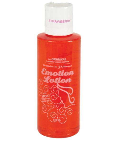 Emotion Lotion Flavored Water Based Warming Lotion Strawberry