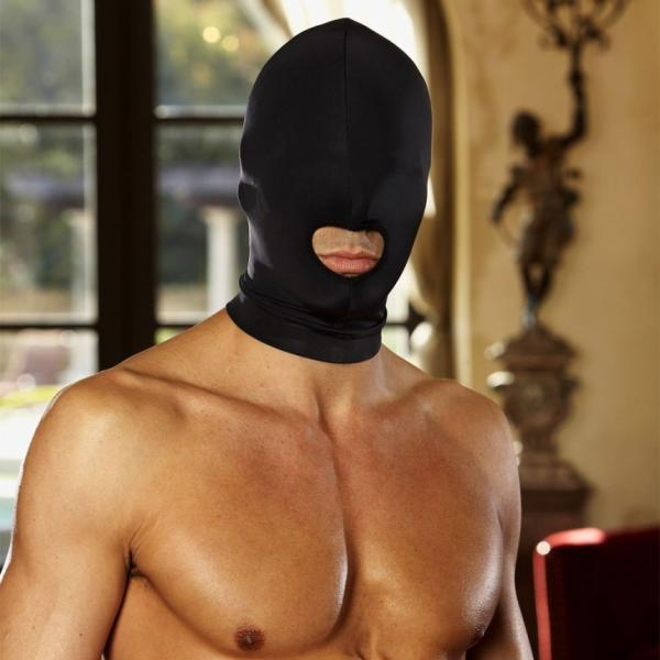 Lux Fetish Open Mouth Stretch Hood Black O/S