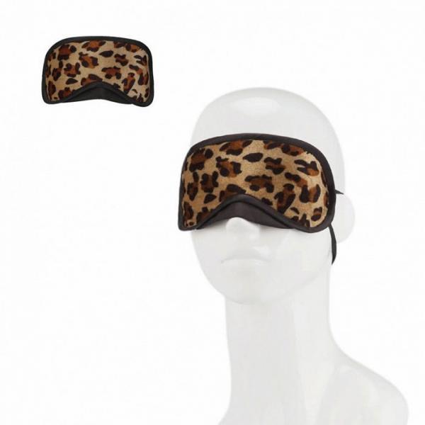 Lux Fetish Peek-A-Boo Love Mask Leopard O/S