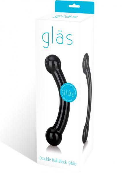 Glas Double Bull Black Glass Dildo