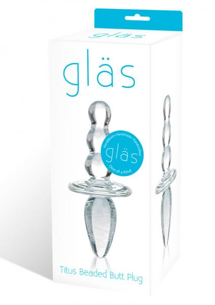 Glas Titus Beaded Glass Butt Plug