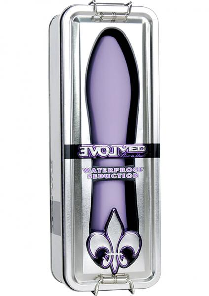 Fleur De Lis Seduction Waterproof Vibe - Purple