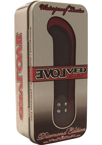 Diamond Lustre Vibrator  Waterproof 4.5 Inch Black