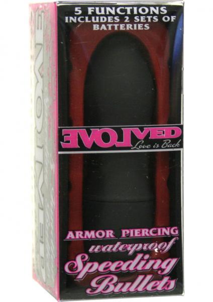 Speeding Bullets Armor Piercing Waterproof 2.5 Inch Black