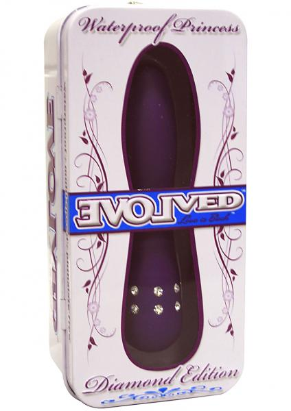 Diamond Princes Vibrator Multispeed Waterproof 4.5 Inch Purple
