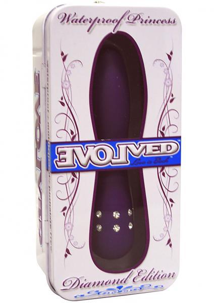 Diamond Princes Vibrator Multispeed Waterproof 4.5 Inch Purple