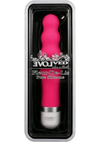 Fleur De Lis Silicone Bliss Vibrator Waterproof 7.5 Inch Pink