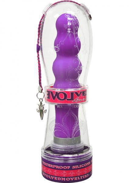 Fleur De Lis Silicone Bliss Vibrator 7.5 Inch Purple