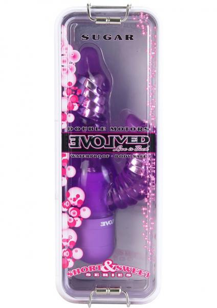 Short And Sweet Sugar Vibrator Waterproof  6.75 Inch Purple