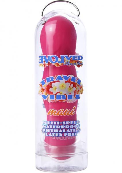 Travel Vibes Maui Vibrator Waterproof 4.25 Inch Pink