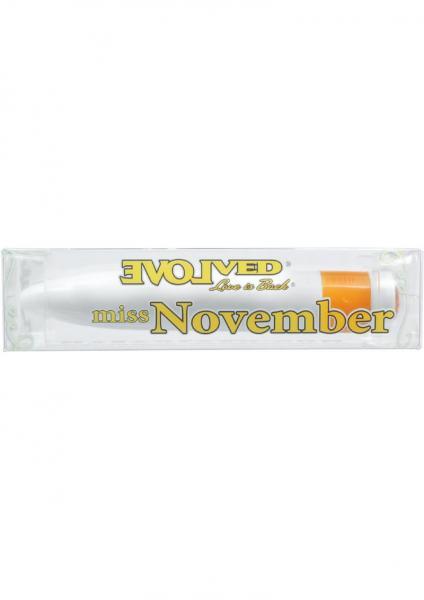 Birthstones Miss November Vibrator Waterproof 4 Inch Citrine
