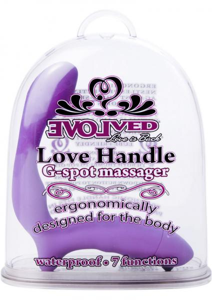 Love Handle G Spot Massager Waterproof 5.5 Inch Purple