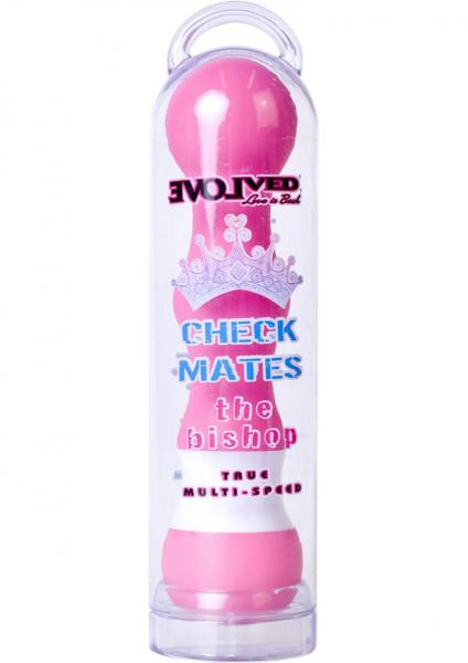 Checkmates The Bishop Vibrator Waterproof 5.5 Inch Pink