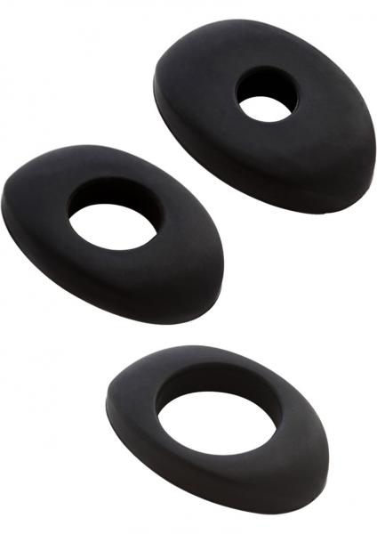 Vibrator Enhancer Silicone Accessory 3 Pack Black