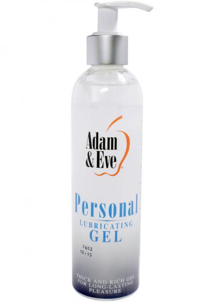Adam & Eve Personal Water Based Lubricating Gel 8 Ounce