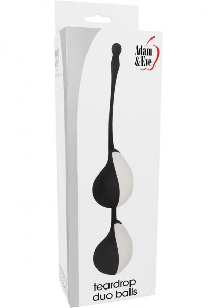 Adam & Eve Teardrop Duo Vaginal Balls Waterproof Black/White