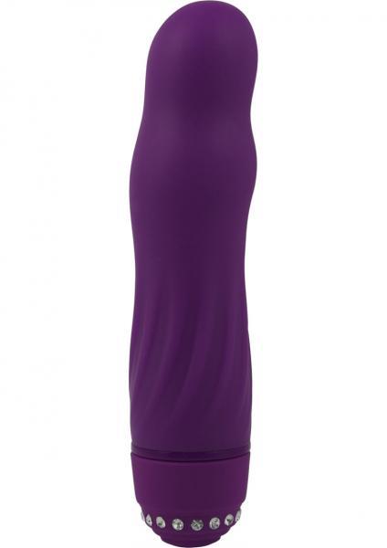 Adam & Eve Diamond Darling Silicone Vibrator Waterproof Purple