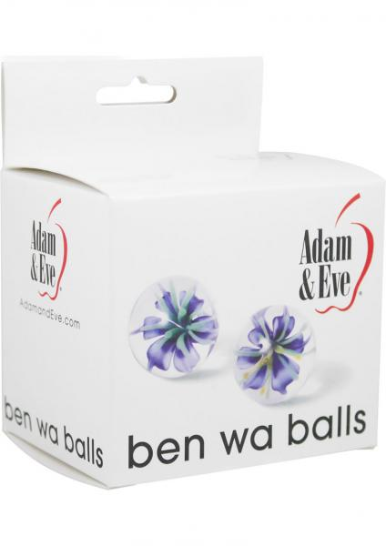 Adam & Eve Glass Ben Wa Balls 1 Inch Diameter 2 Each