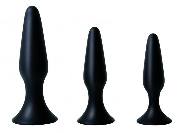 Booty Boot Camp Training Kit 3 Butt Plugs Black