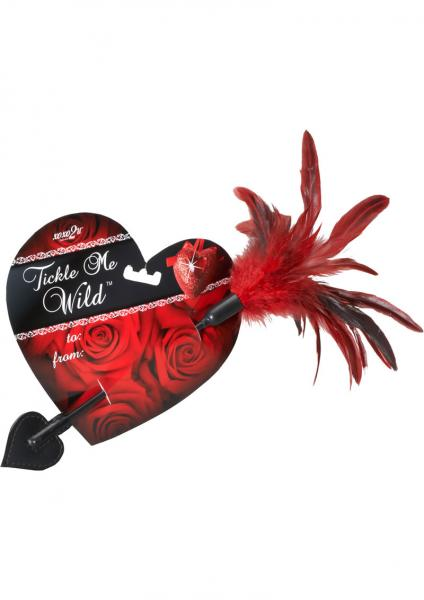 Xoxo2U Tickle Me Wild Feather Tickler And Heart Paddle Red