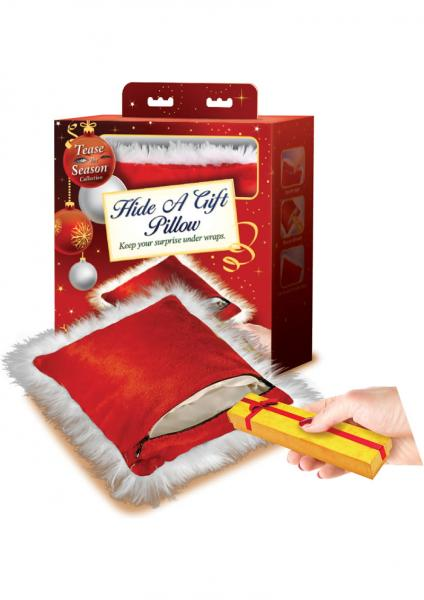Tease The Season Hide A Gift Pillow Red