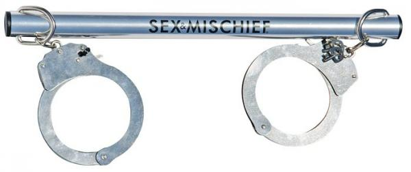 Sex and Mischief Spreader Bar with Metal Cuffs