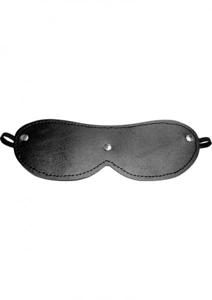 Sex And Mischief 3 Stud Designer Blindfold Black