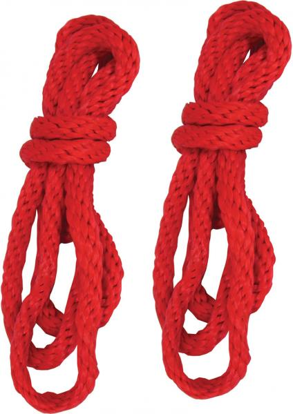 Sex And Mischief Silky Rope Red 2 Each 6 Foot