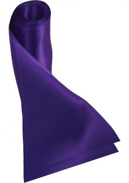 Sex And Mischief Silky Sash Restraints Purple