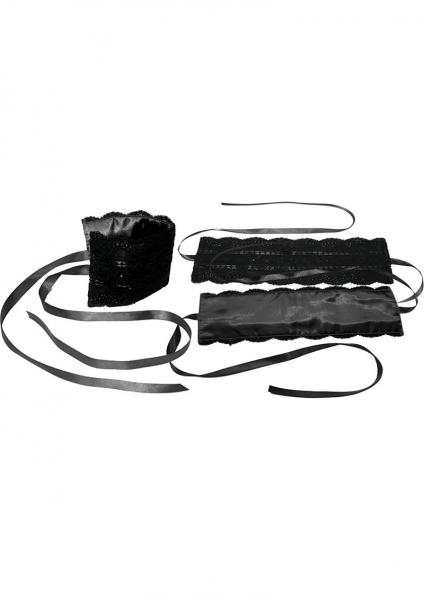 Satin And Lace Lover's Kit Black