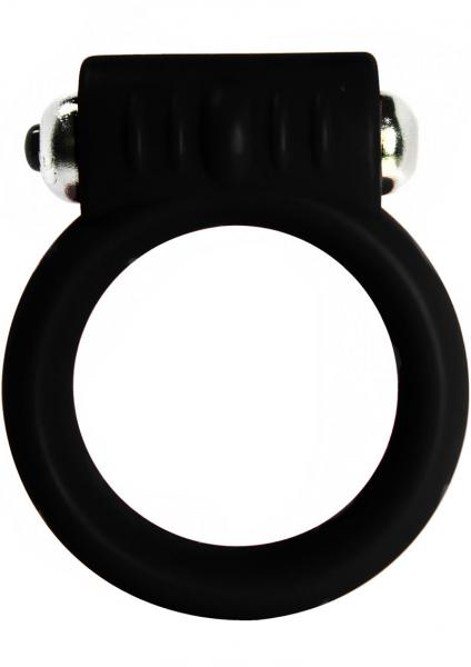 Vibrating Silicone Cock Ring 2 Inch Black