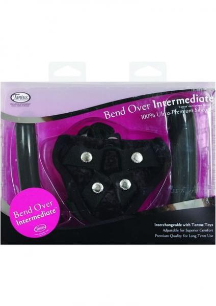 Bend Over Intermediate Vibrating Harness Black