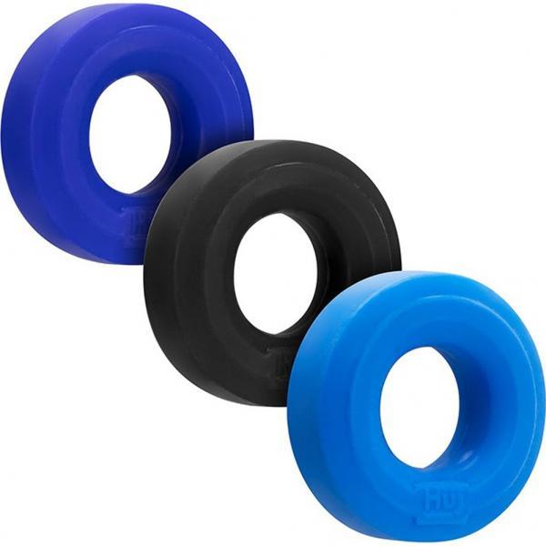 Huj3 3pk C-ring Blue Multi